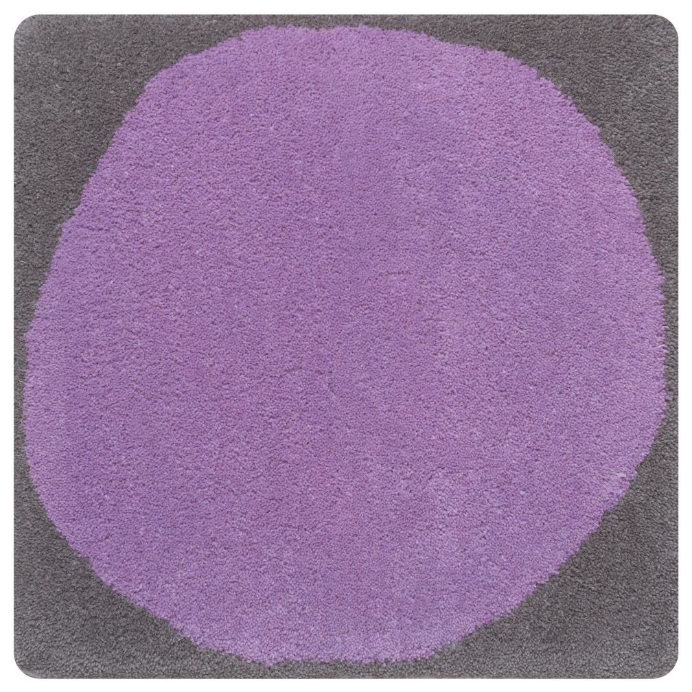 Purple Ink Spot Rug Swatch