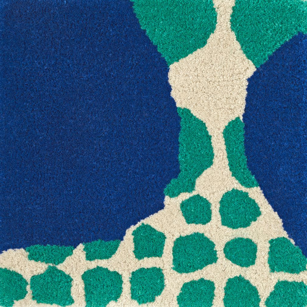 Multi-Dot Blue & Green Rug Swatch