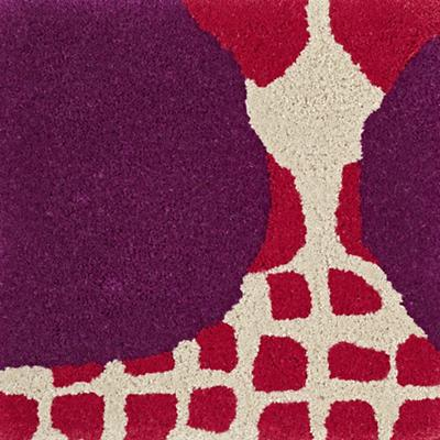 Multi-Dot Pink & Purple Rug Swatch
