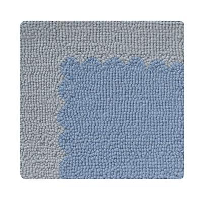 Swatch Blue Picture Frame Rug