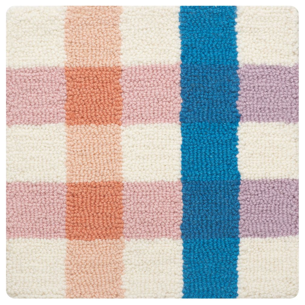 Rainbow Gingham Rug Swatch