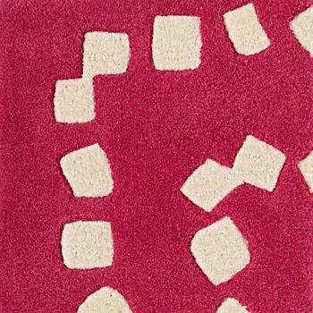 Square Drops Pink Rug Swatch