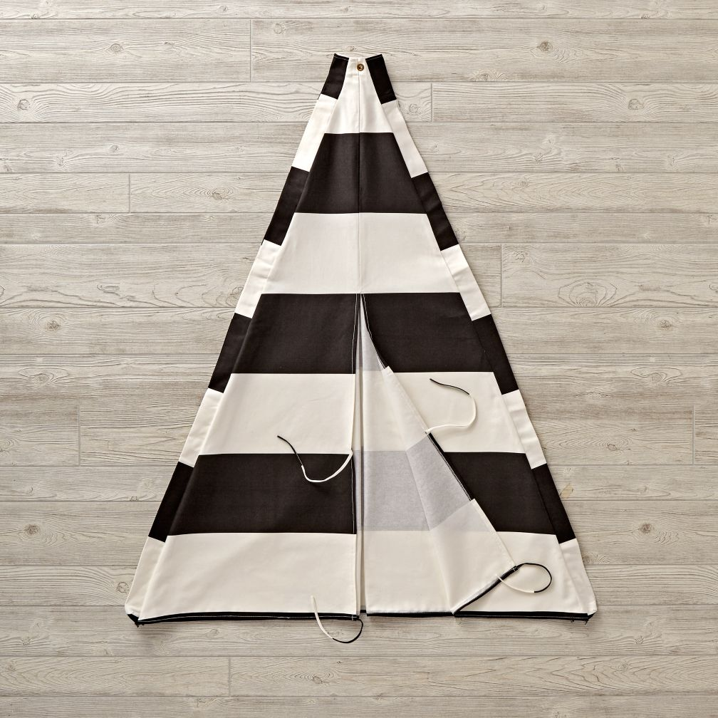 Extra Black Stripe Teepee Cover