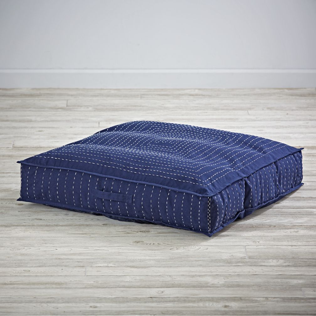 Dip Dye Denim Teepee Floor Cushion