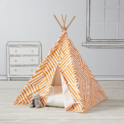 Orange Maze Teepee To Call Your Own