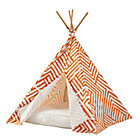 Orange Maze Teepee & Cushion Set