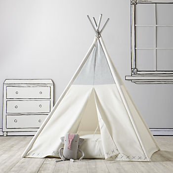 A Teepee & Cushion to Call Your Own Set (Silver Metallic)