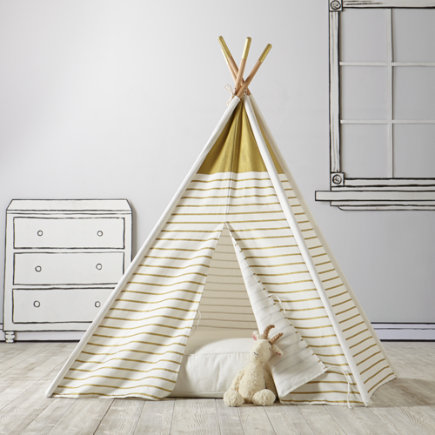 Teepee to Call Your Own (Gold Stripe) - Gold Metallic A Teepee to Call Your Own
