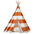 Orange Stripe Teepee and Cushion Set