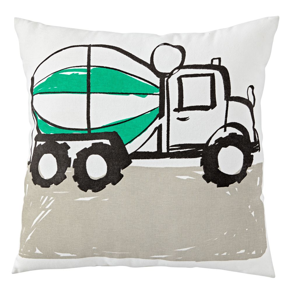 Cement Truck Throw Pillow