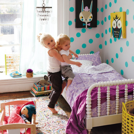 Lottie Dots Polka Dot Wall Decals (Aqua) - Lottie Dots Aqua Decal