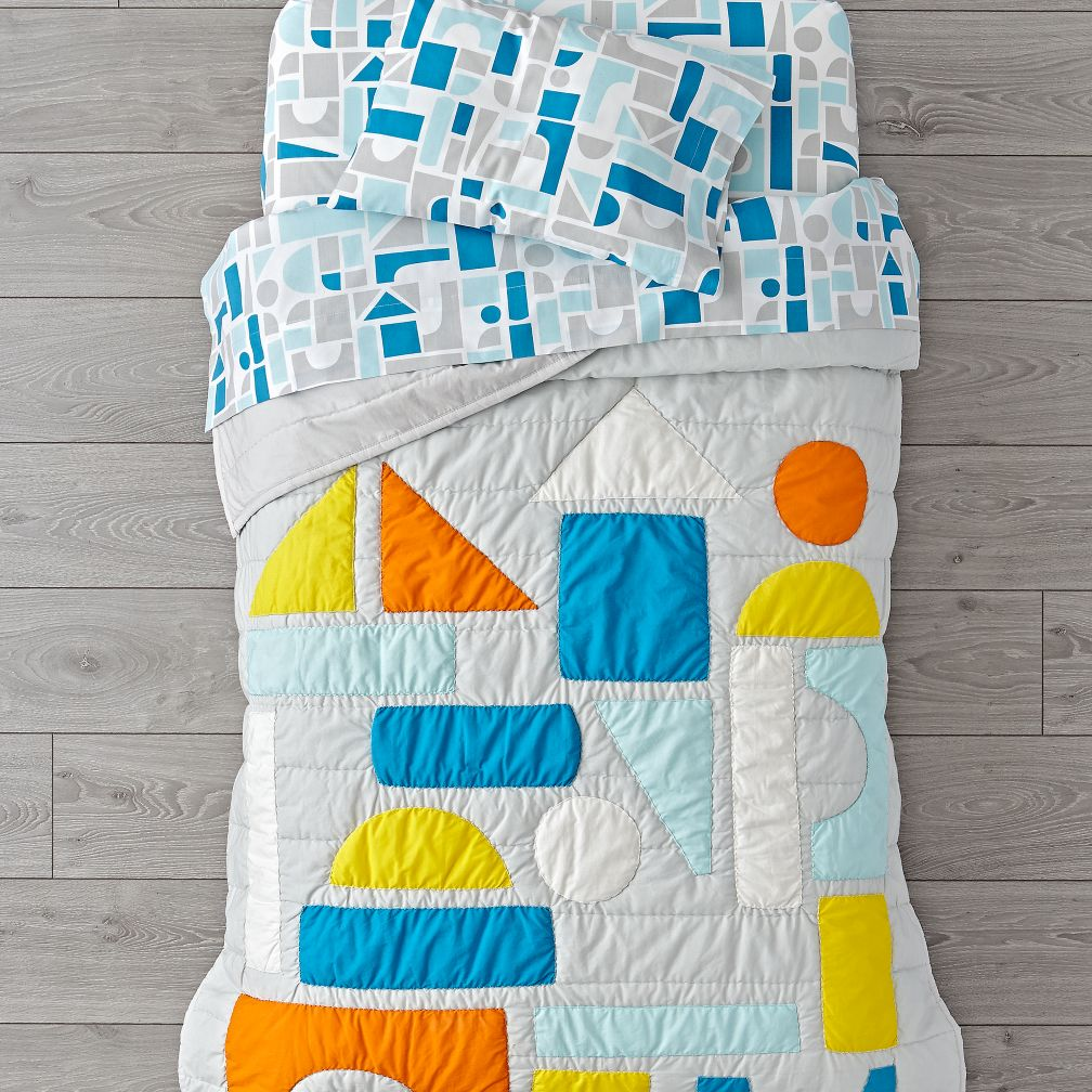 Block Party Toddler Bedding
