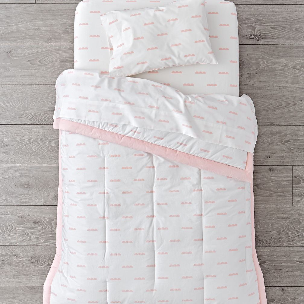 Pink Clouds Toddler Bedding