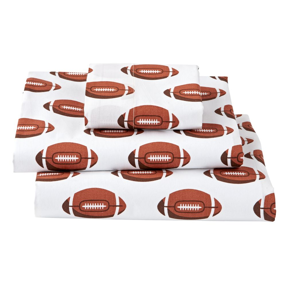 Organic Nod Football Toddler Sheet Set