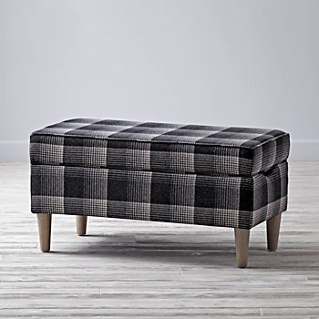 Upholstered Storage Bench (Aberdeen Flint)