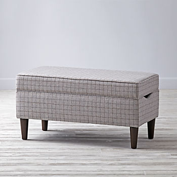 Upholstered Storage Bench (Glasgow Vapor)