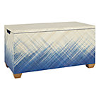 Blue Color Weave Toy Box