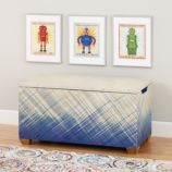 Color Weave Toy Box (Blue)