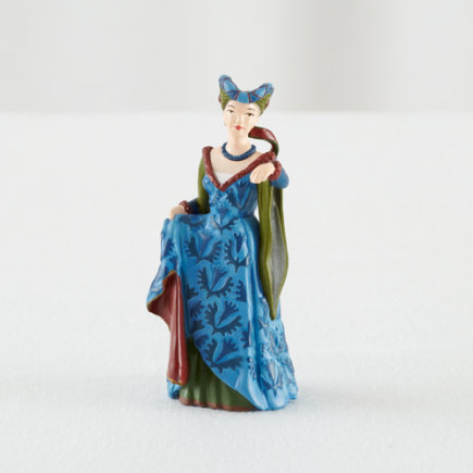Blue Medieval Fair Lady Figurine