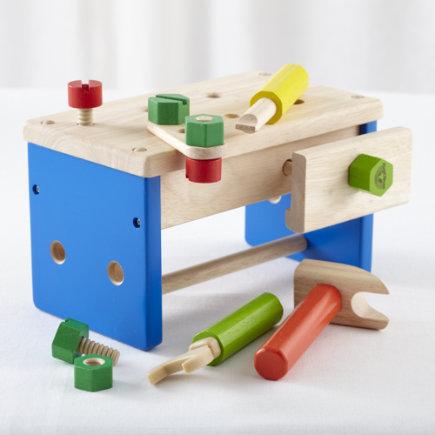 Kids Imaginary Toys: Pretend Tool Box Set Toy - Mini Workbench