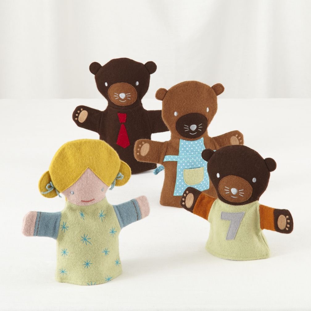 Once Upon a Hand Puppet Set (3 Bears & Goldilocks)