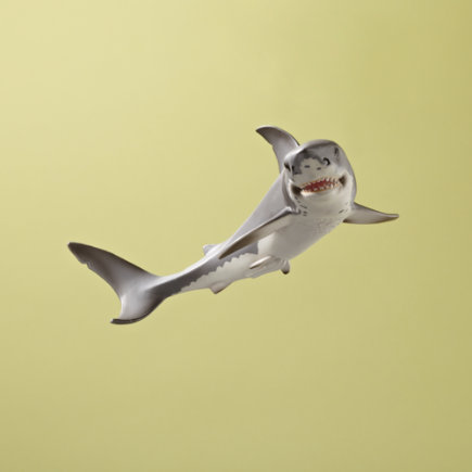 Kids Toys: Kids Hand Painted White Shark Figurine - White Shark