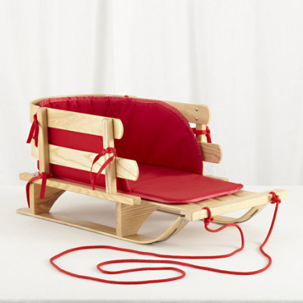 Holiday Gear: Little Red Wooden Sled - Rosebud Sled