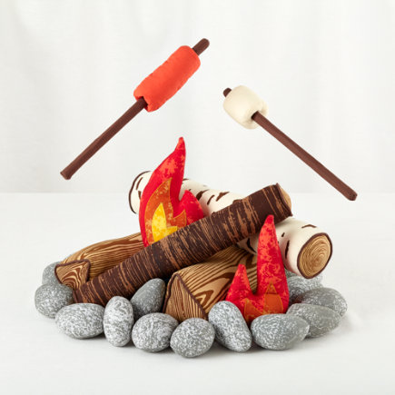 Land of Nod Plush Campfire Set