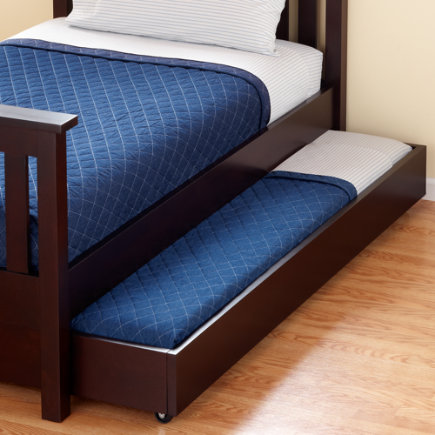Kids Trundles: Kids Espresso Simple Storage Trundle - Espresso Simple Trundle Bed