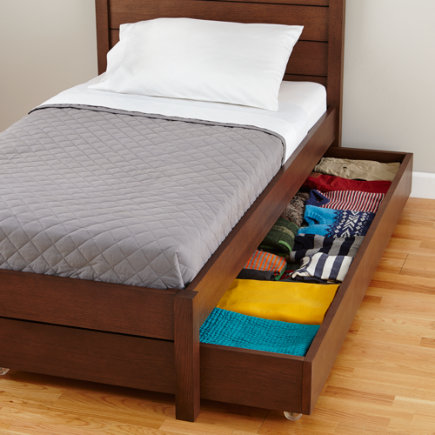 Uptown Storage Trundle (Brown) - Brown Uptown Trundle Bed