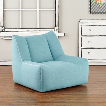 - Turquoise Open Arms Swivel Lounge