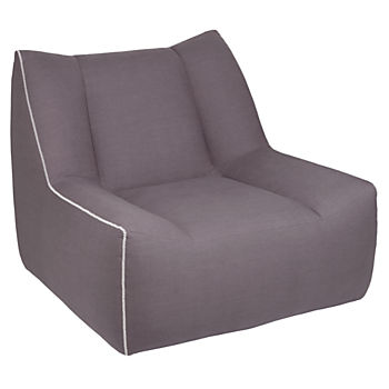 Open Arms Swivel Lounge Chair (Gunmetal)