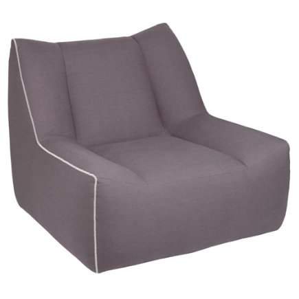 Gunmetal Open Arms Swivel Lounge Chair
