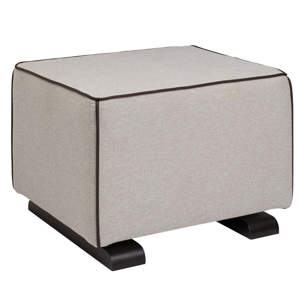 Luca Ottoman (Grey with Leather)