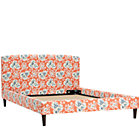 Full Cecilia Coral Upholstered Bed