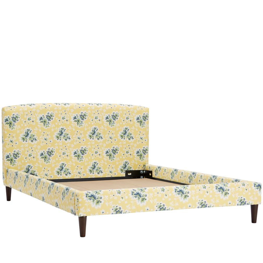 Full Upholstered Bed (Cecilia Lemon)