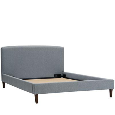 Queen Upholstered Bed (Flair Smoke)