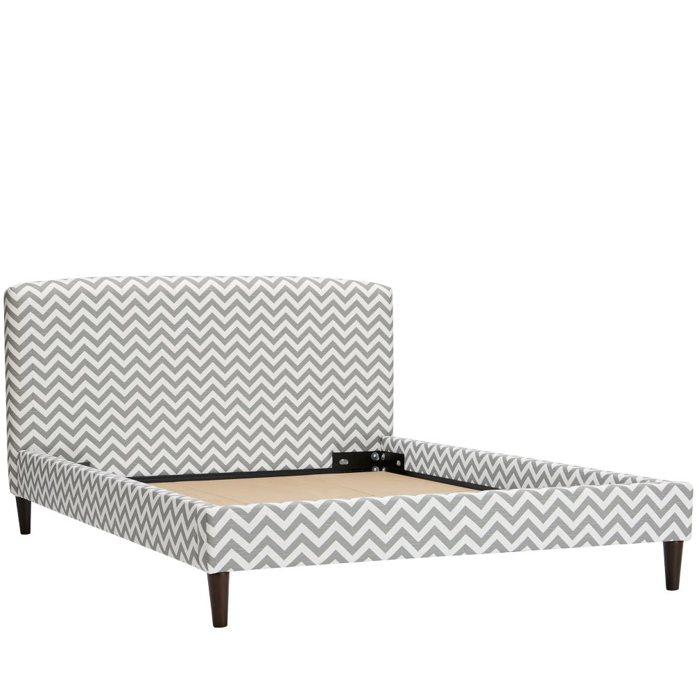 Full Upholstered Bed (Zig Zag Ash)