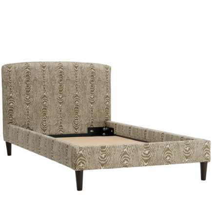 Twin Brevard Tusk Upholstered Bed