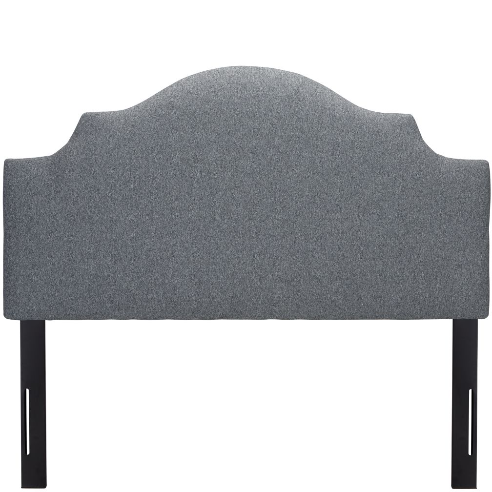 Full Arched Upholstered Headboard (Flair Smoke)