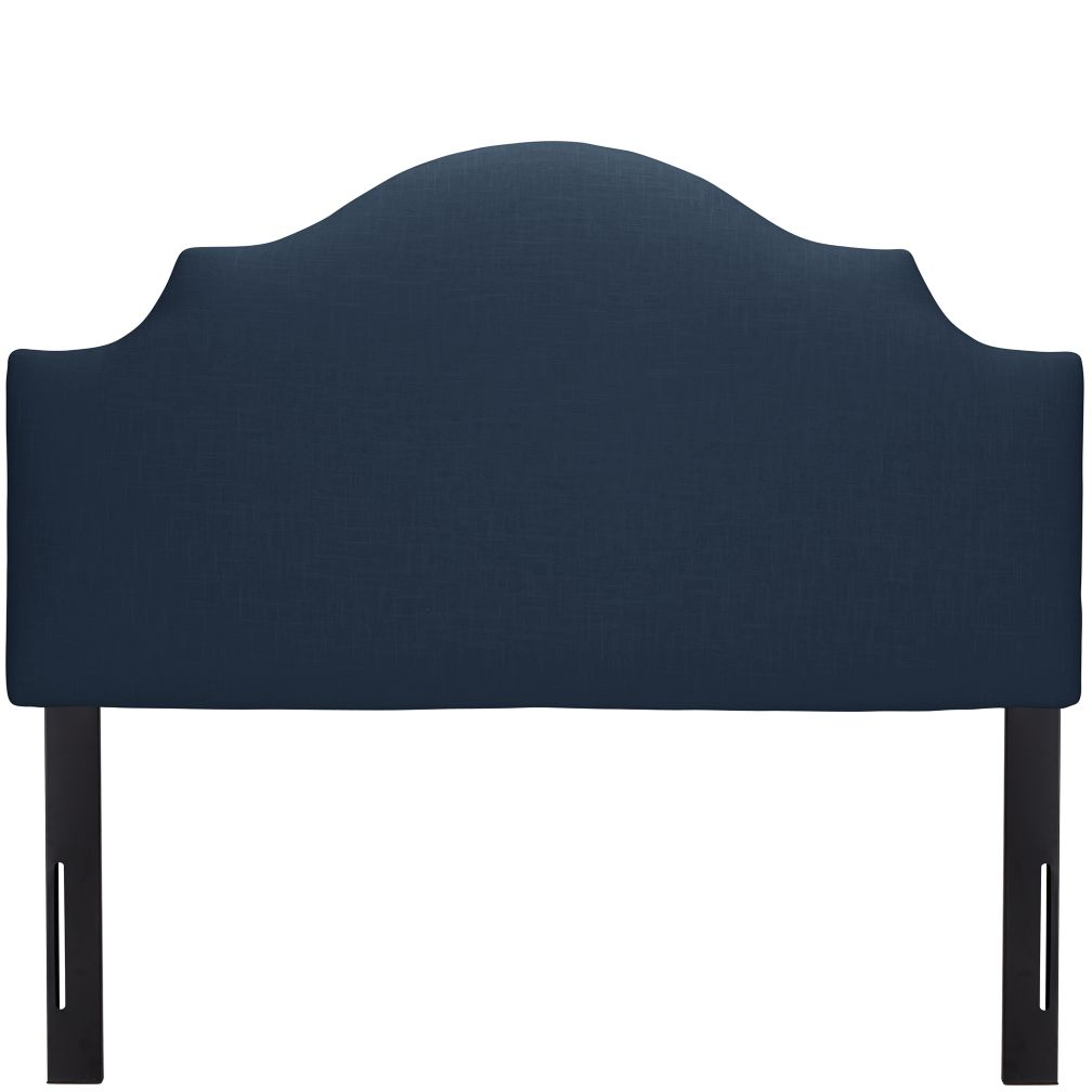 Full Arched Upholstered Headboard (Navy Linen)