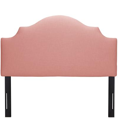 Full Arched Upholstered Headboard (Petal Linen)