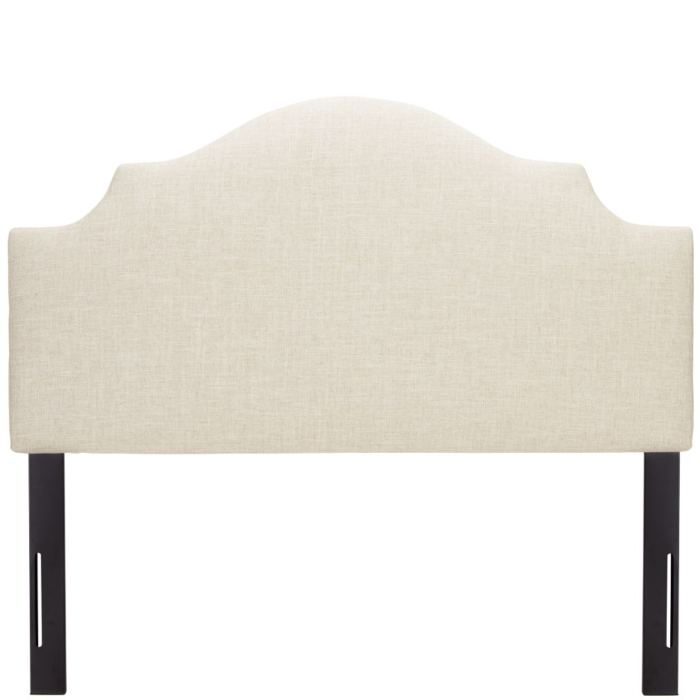 Full Arched Upholstered Headboard (Zuma Vanilla)