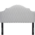 Zig Zag Ash Full Arched Upholstered Headboard