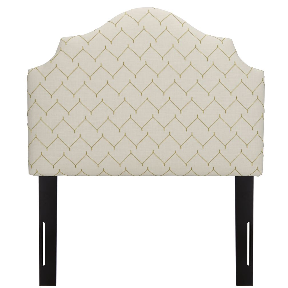 Twin Arched Headboard (DuJour Sugar Snap)