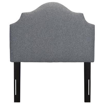 Twin Arched Upholstered Headboard (Flair Smoke)