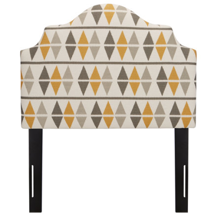 Twin Ikat Nova Argyle Arched Headboard