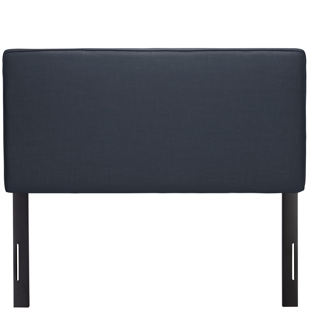 Full Upholstered Headboard (Navy Linen)