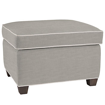 Quincy Ottoman (Piped Devote Pewter)