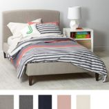 Upholstered Bed (Solid Fabrics)